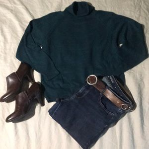 Forest Green Turtleneck Sweater.